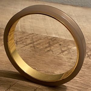 JCrew Nude/Beige Bangle with gold accents